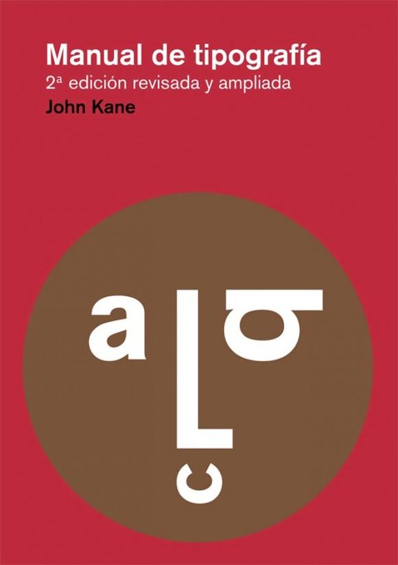 Portada del libro «Manual de tipografía» de John Kane