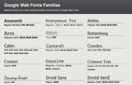 Better Google Fonts, de Soma Design
