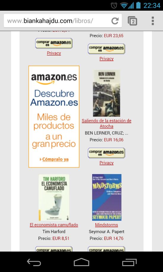 Anuncios afiliados de Amazon