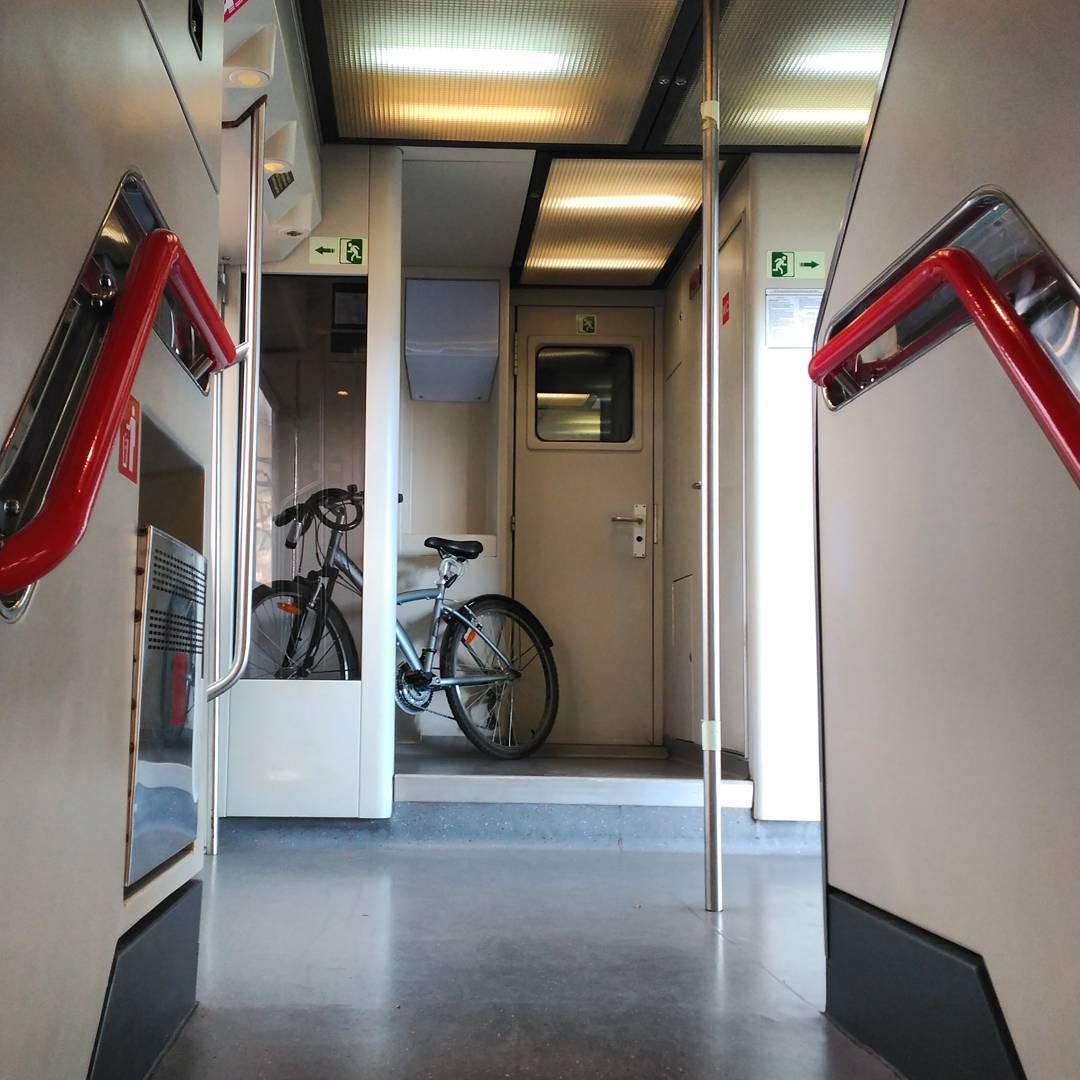 Con bici en el tren